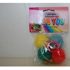 Mягкие мячики с колокольчиком Vitakraft (39902)
